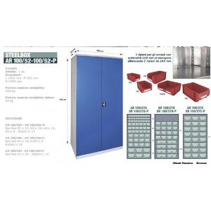 Armadio 100/52 senza porte con Key box K4
