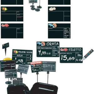 Confezione segnaprezzi in PVC cancellabili