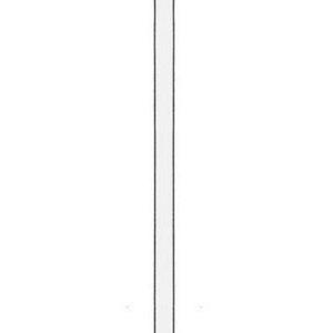 Montante terminale Base 40 cm Altezza 158 cm per scaffale centrale o unione scaffali centrali
