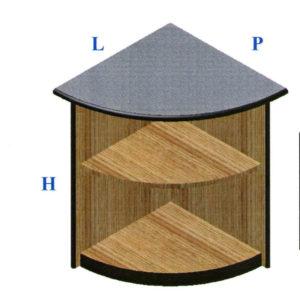 Banco vendita modulo angolo interno